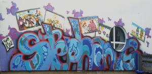 Graffiti an der Kita, 2017